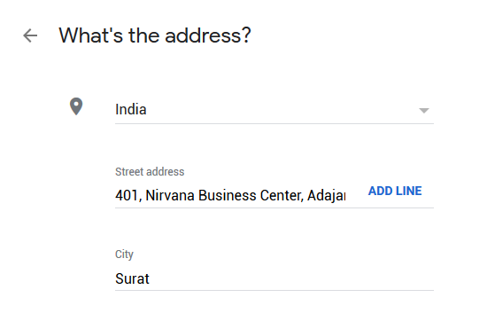 Google My Business Listing Step 2