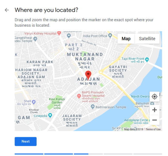 Google My Business Listing Step 3 - Add Location